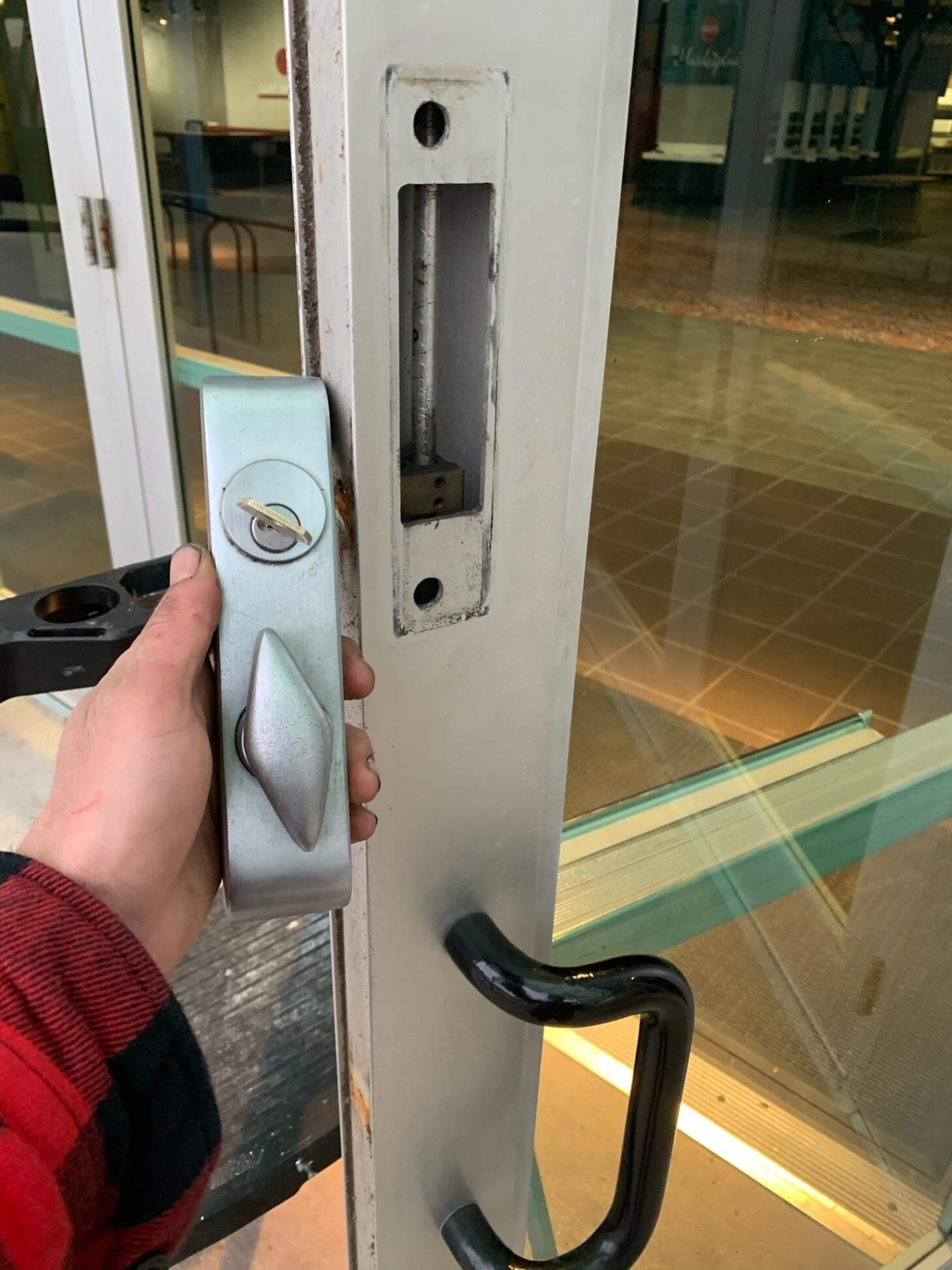 commercial lock re-key